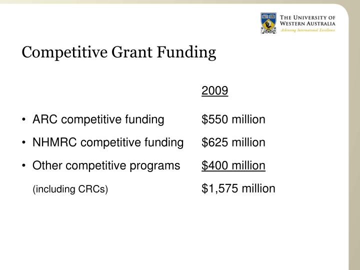 Competitive Grant Funding