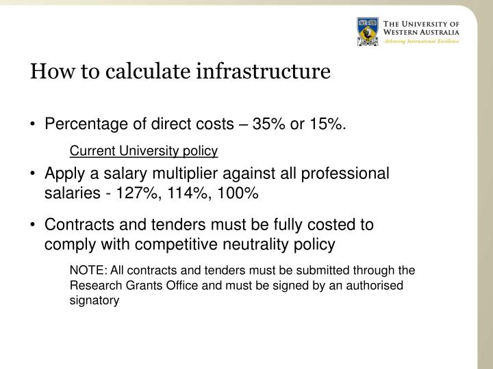 How to calculate infrastructure