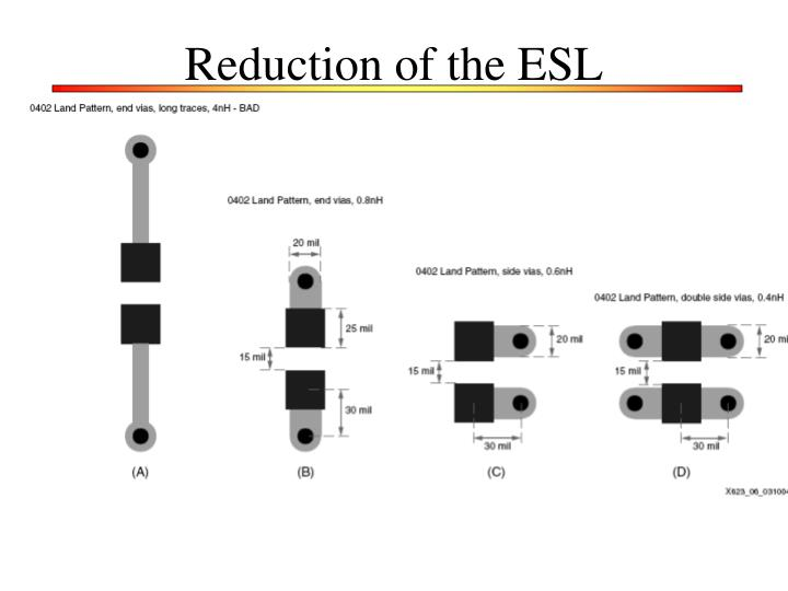 Reduction of the ESL