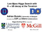 low mass higgs search with h bb decay at the tevatron