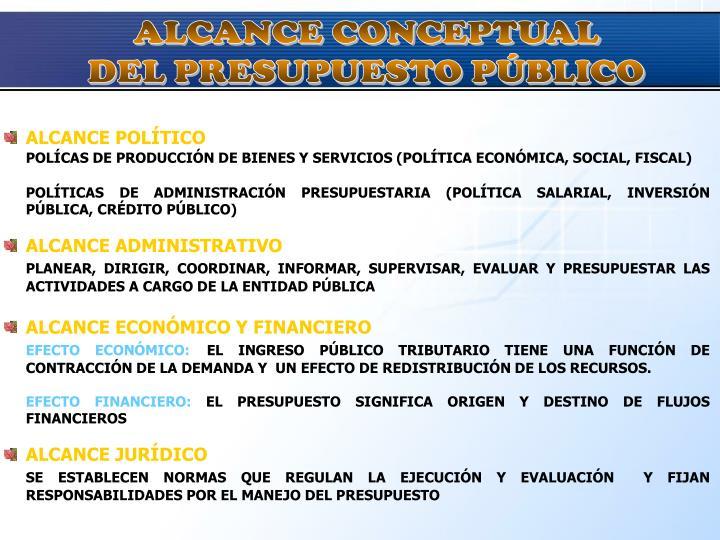 ALCANCE CONCEPTUAL
