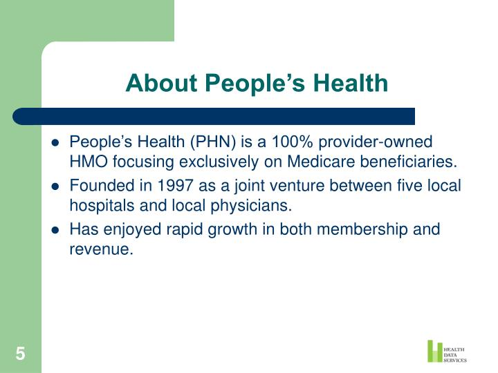 About People's Health