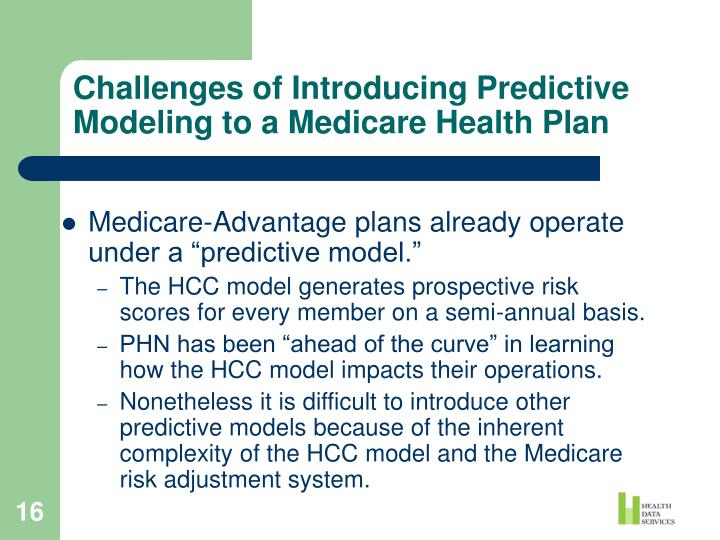 Challenges of Introducing Predictive Modeling to a Medicare Health Plan