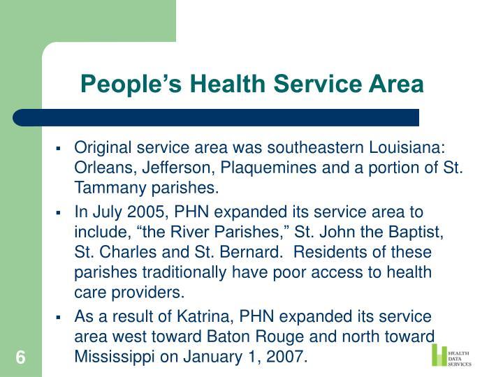 People's Health Service Area