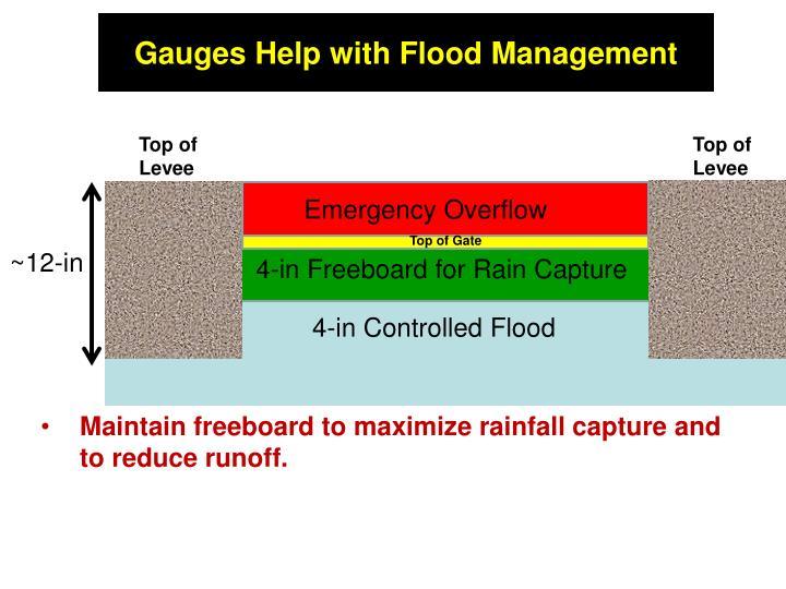Gauges Help with Flood Management