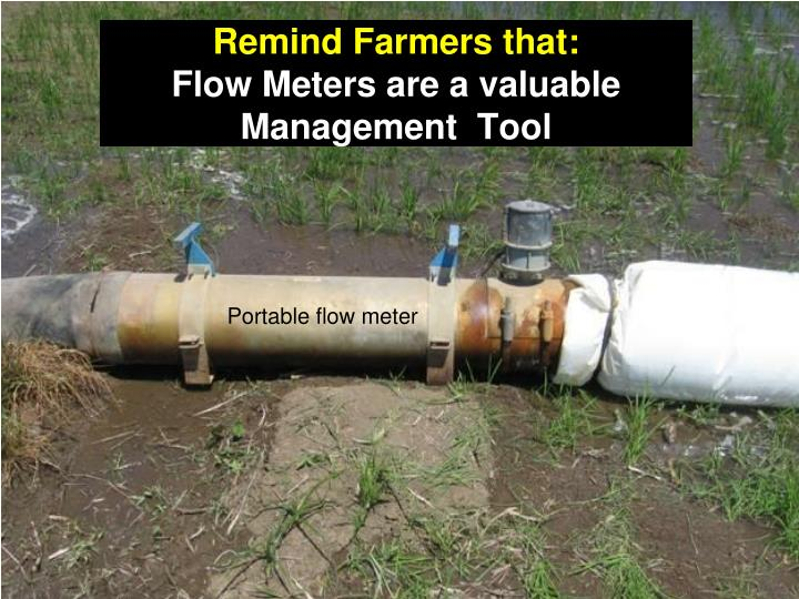 Remind Farmers that: