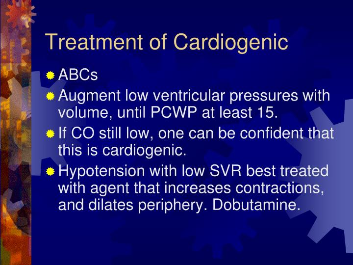 Treatment of Cardiogenic