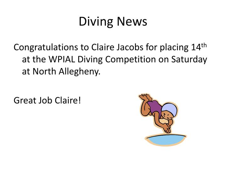 Diving News