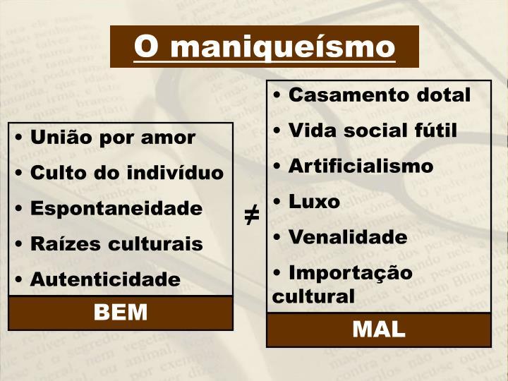 O maniqueísmo