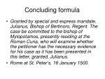 concluding formula