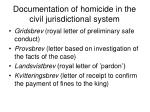 documentation of homicide in the civil jurisdictional system