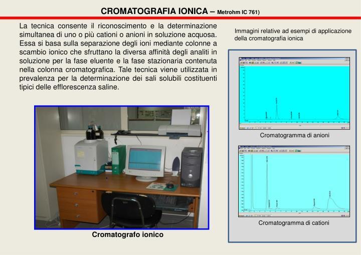 CROMATOGRAFIA IONICA –