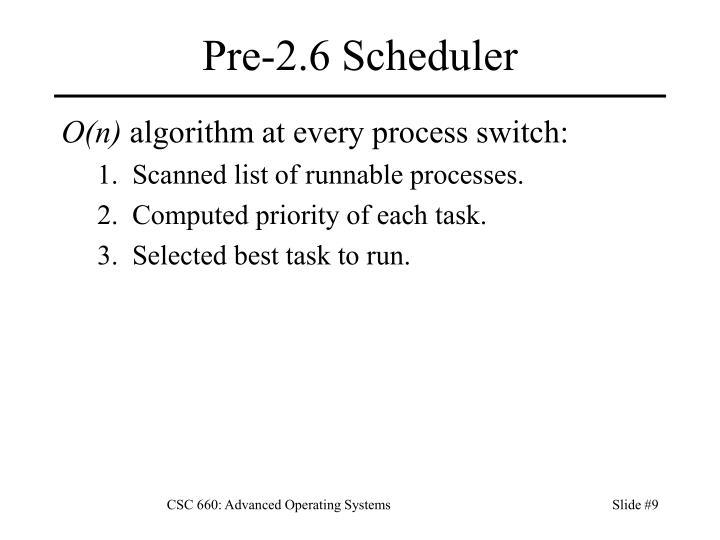 Pre-2.6 Scheduler