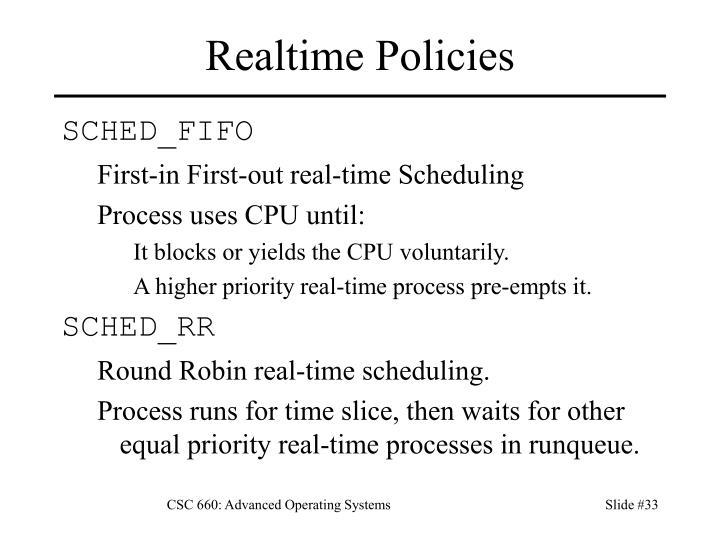 Realtime Policies