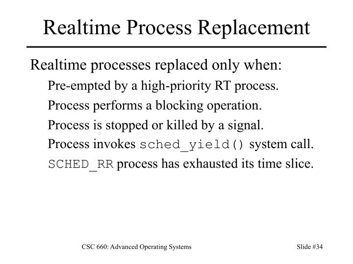 Realtime Process Replacement