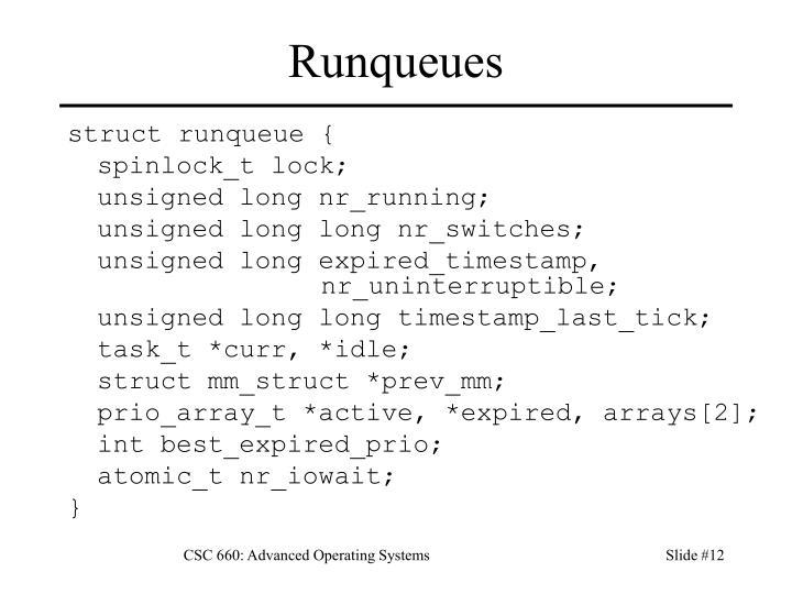 Runqueues