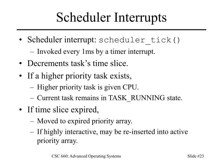 Scheduler Interrupts