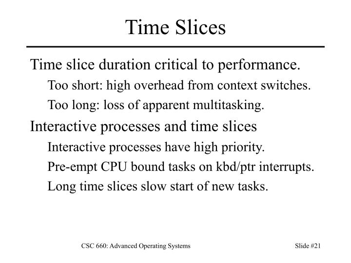 Time Slices