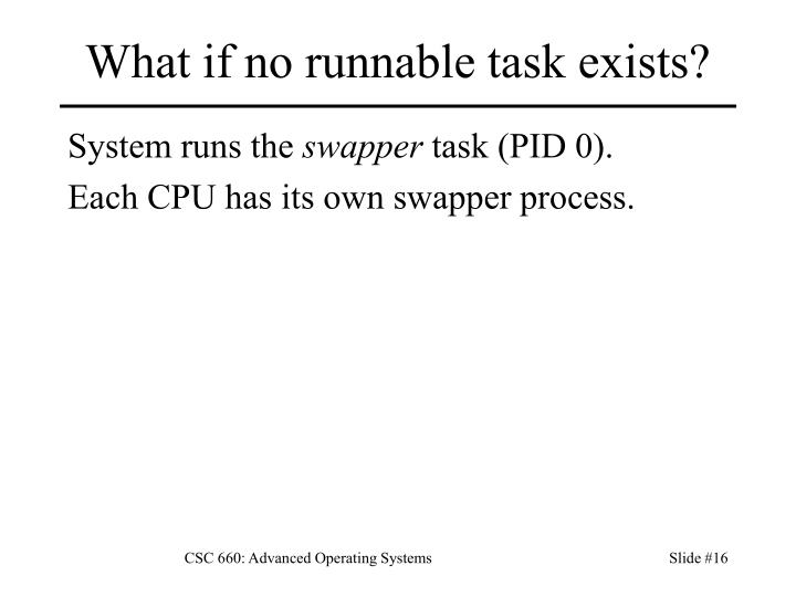 What if no runnable task exists?