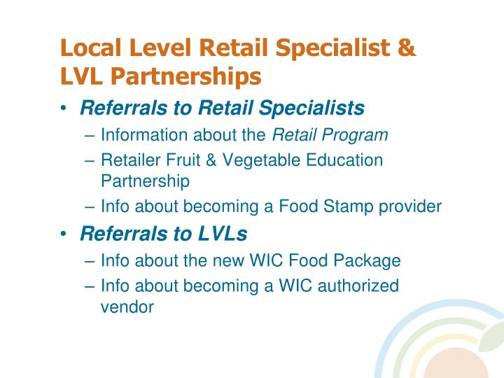 Local Level Retail Specialist & LVL Partnerships