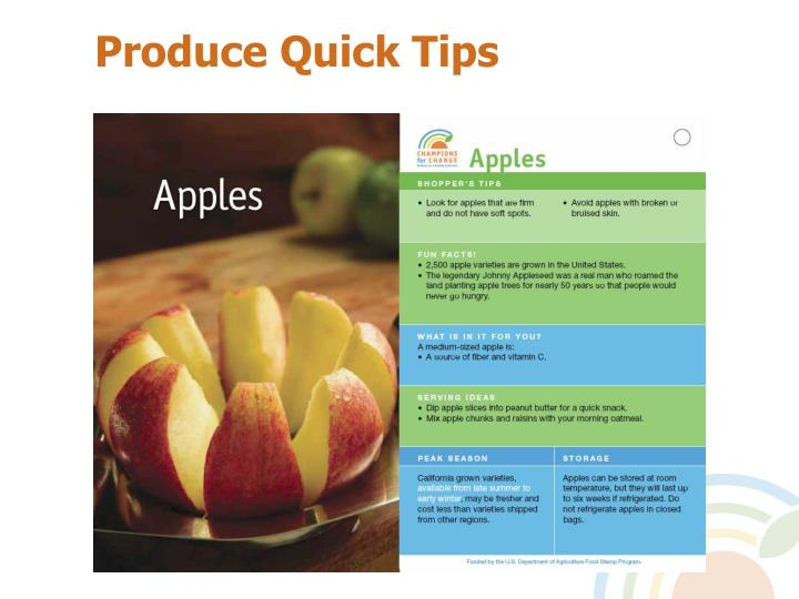 Produce Quick Tips
