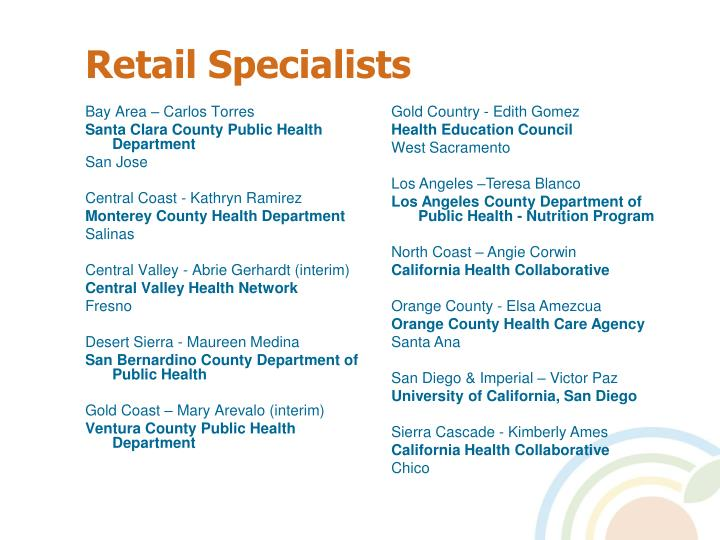 Retail Specialists