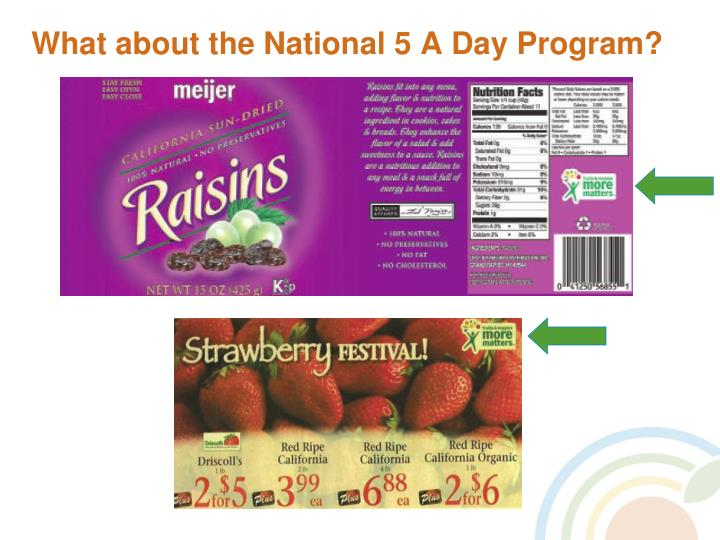 What about the National 5 A Day Program?