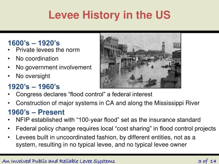 Levee history in the us
