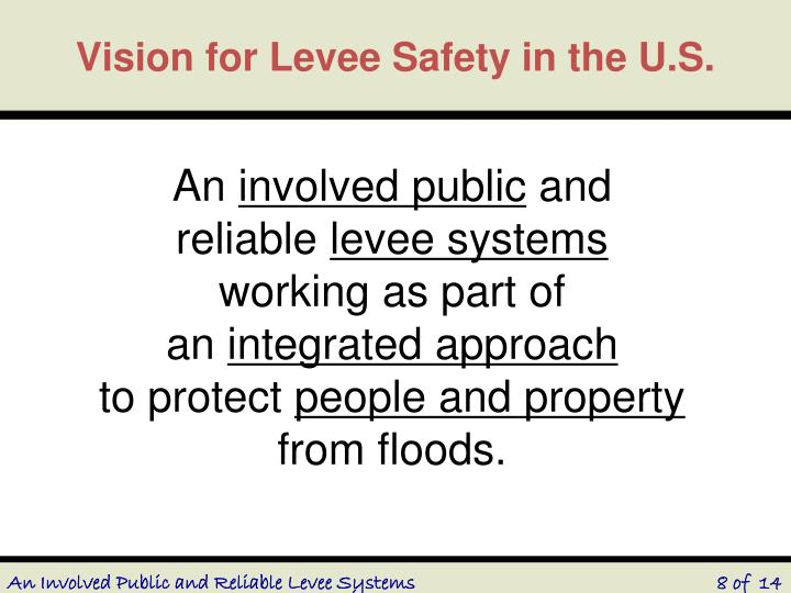 Vision for Levee Safety in the U.S.