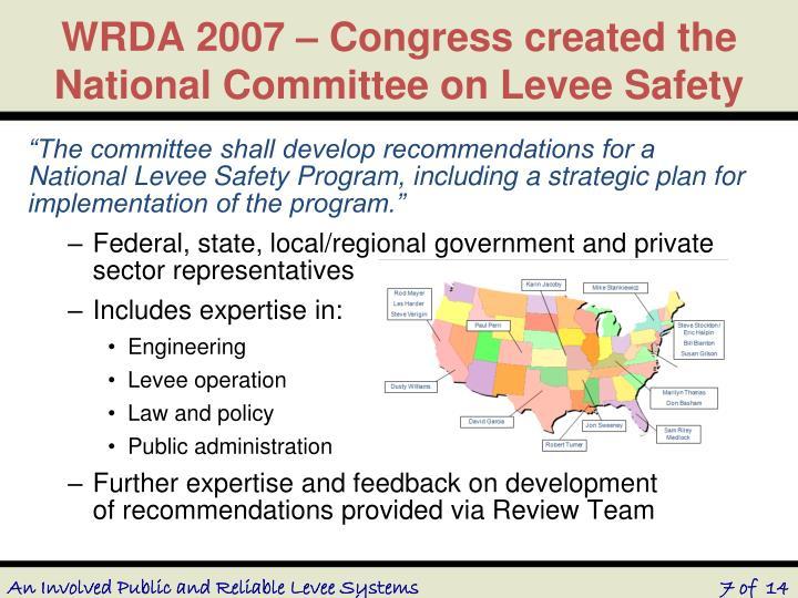 WRDA 2007 – Congress created the