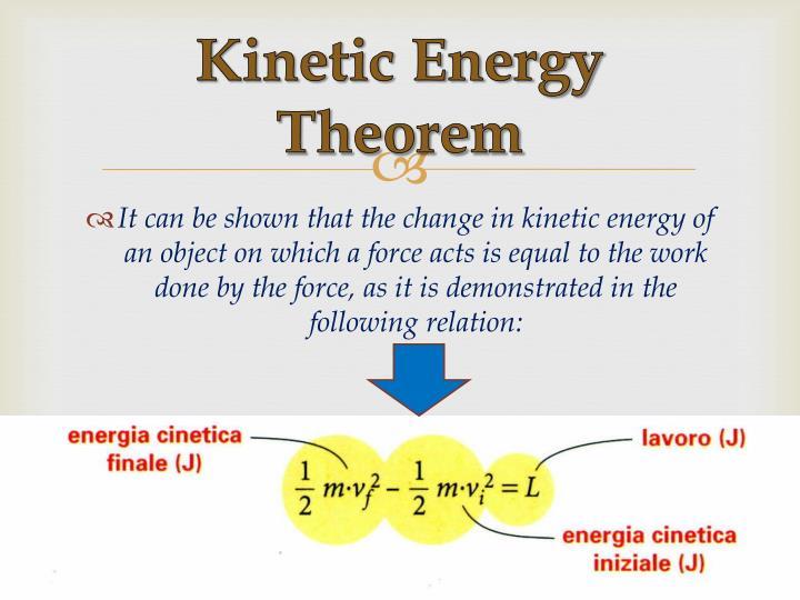 Kinetic Energy Theorem