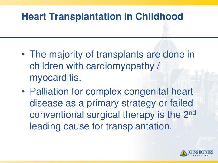 Heart Transplantation in Childhood