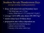 southern nevada thunderstorm days average morning sounding parameters
