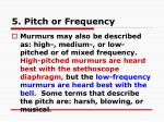 5 pitch or frequency