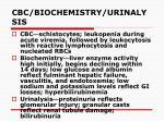 cbc biochemistry urinalysis