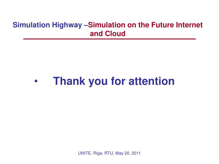 Simulation Highway –