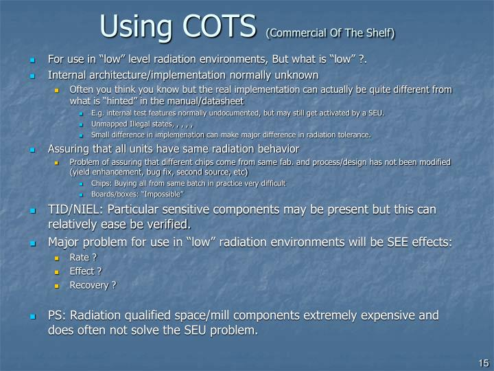 Using COTS