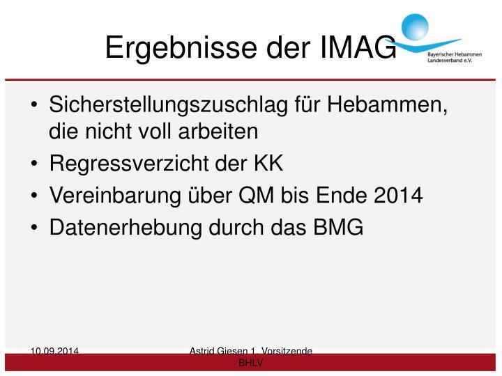 Ergebnisse der IMAG