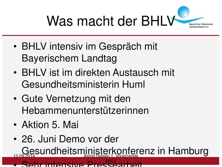Was macht der BHLV