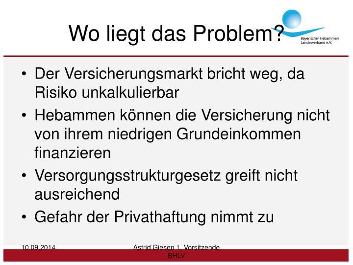 Wo liegt das Problem?