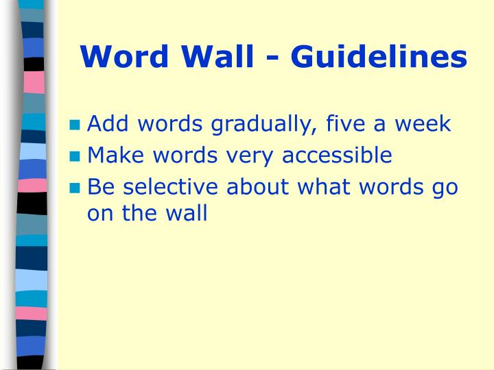 Word Wall - Guidelines