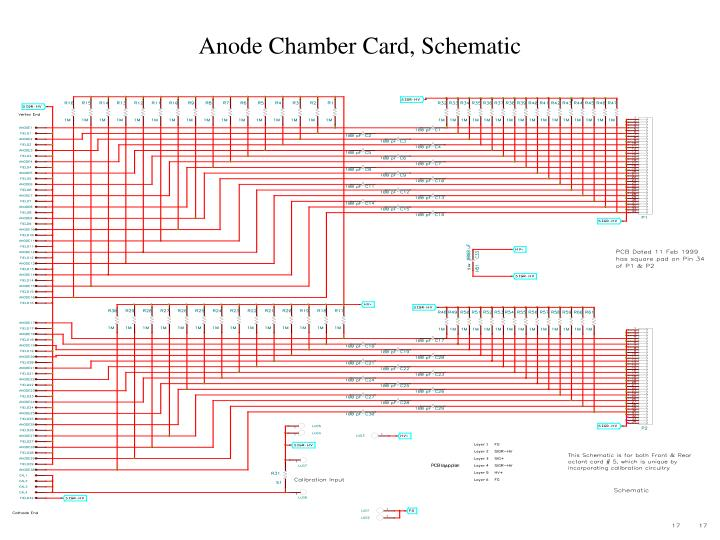Anode Chamber Card, Schematic