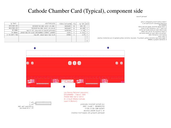Cathode Chamber Card (Typical), component side