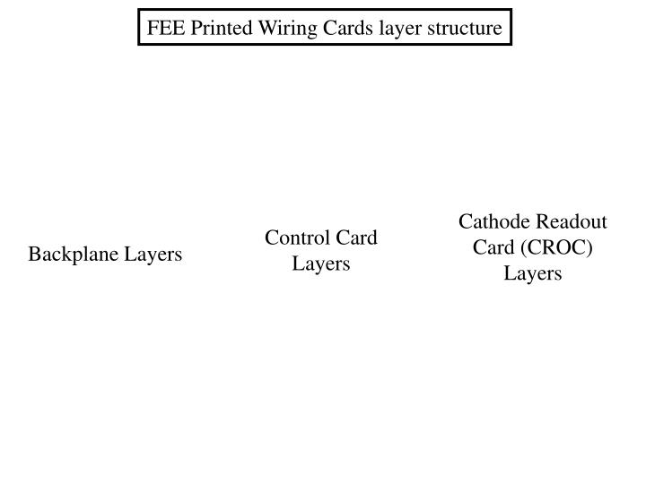 FEE Printed Wiring Cards layer structure