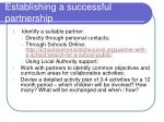 establishing a successful partnership