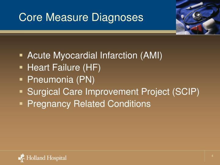Core Measure Diagnoses