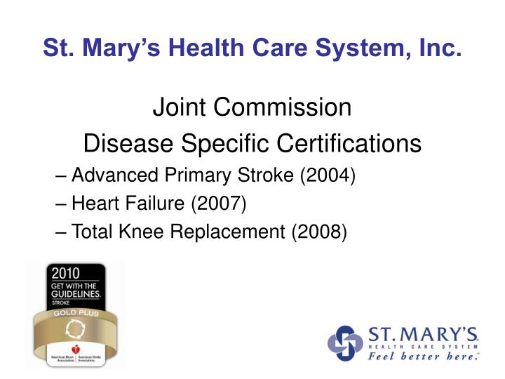 St mary s health care system inc