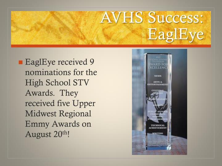 AVHS Success:
