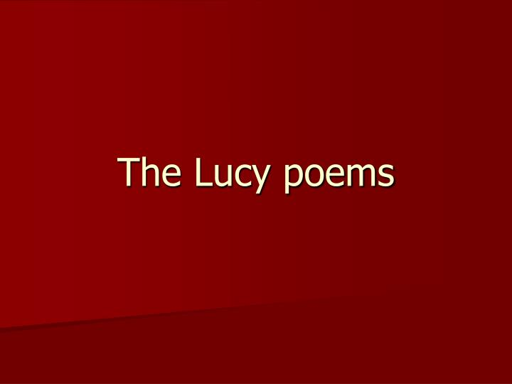 the lucy poems
