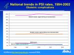 national trends in psi rates 1994 2002 obstetric complications